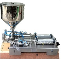 YF-300 10-300ml double nozzles automatic filling machine for liquid and cream paste speed  0-30bottles per minute