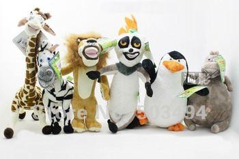"Madagascar 6 different Styles Gifts Plush Toys Giraffe Melman Plush Doll 15"" Toys"