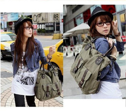 Big Size Canvas Fashion Purse Handbag Messenger Satchel Shoulder Bag free shipping wholesale S023(China (Mainland))