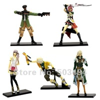 "Free Shipping New Stylish 4.3-5.5"" PS3 Game Final Fantasy XIII Action Figures 5pcs/Set"