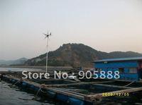 Free shipping!24v 300w windmill turbine/ 6 blades small windmill generator +24 600w wind solar hybrid controller