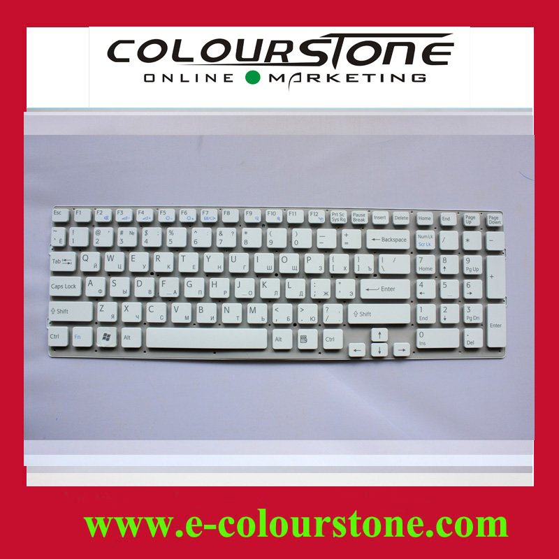 Free shipping Brand NEW laptop keyboard for SONY EB,VPC-EB Service RU WHITE keyboad 148793271 without fream(China (Mainland))