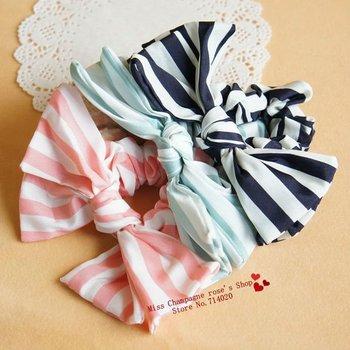 Bows rope headbands/Elastic hair band/Hair accessories/Headwear.3 colors.fabric flower.girls dress.Free shipping.T0930A01M10