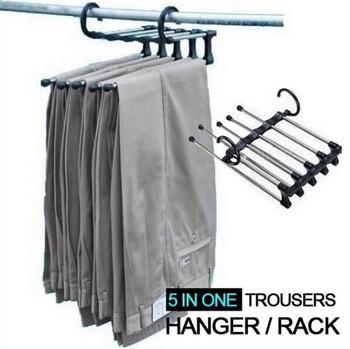 Free Shipping Magic Trousers Hanger Rack Multifunction Pants Hanger Rack 5-In-1 #1502