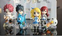 Free shipping Anime Fairy Tail PVC Figure Model Wholesale and Retail (6 pcs/set)