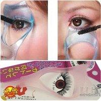2pcs 3in1 Makeup Cosmetics Brush Mascara Eyelash Curler Guard Applicator Comb Beauty