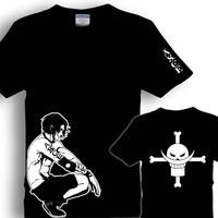 Onepiece t-shirt isdell short-sleeve luffy white beard t-shirt