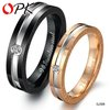 jewlery wedding ring Free Shipping stainless steel crystal inlaid couple ring size 5/6/7/8 for female size 7/8/9/10 for male 306