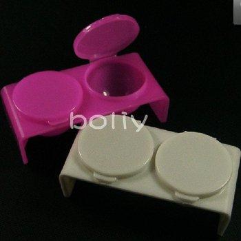 2pcs Nail Art Tip Plastic Double Lips Dappen Dish Acrylic Liquid Power Case Tool