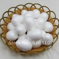 Free shiping wholesale 7cm natural white styrofoam egg shape balls for DIY and  nylon stocking flower accessories(50pcs/lot)