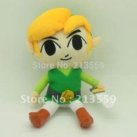 "Free Shipping New Legend of Zelda Plush Doll Stuffed Toy Waker Link 7"" Retail"