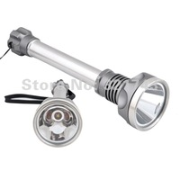 Stainless steel 1000 Lumens Cree XM-L XML T6 LED Flashlight  5 Mode Torch (2*18650 Not Included)