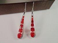 wow!! sell so hot !!cheap!!!red colour Fashion 18K white gold GP,teardrop earrings zircon earrings 4546768