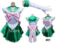 sailor moon green short fancy dress cosplay costume #01 freeshipping