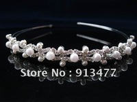 Wholesale-fashion design bride girl headband Wedding Prom JEWELRY Pearl Rhinestone hair ornament