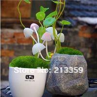 Newest !!! Free Shipping for Romantic Solar Mushroom Lamp LED Night Light Ceramic
