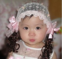 Free Shipping,Wholesale(6 pcs/lot) Hair Girls Lace Headbands/Children Hairband/Cute Kids Headscraf