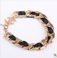 Free Shipping! Temperament Metal Woven Ribbons Bracelet