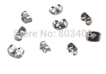 Wholesale - stainless steel earring back plug fashion jewelry accessories findings components RBEARFIND1368