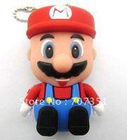 4GB/8GB/16GB/32GB Super Mario USB 2.0 Flash Memory Stick Pen Drive Thumbdrive U Disk & Free ship