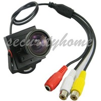 Free Shipping!4mm Low Illumination Mini HD 600TVL 1/3 CMOS Security Audio Video Color CCTV Camera