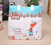 Free shipping Wholesale 18pcs/lot Canvas Folding Shopping Bag 33*32cm Mix colors/Designs