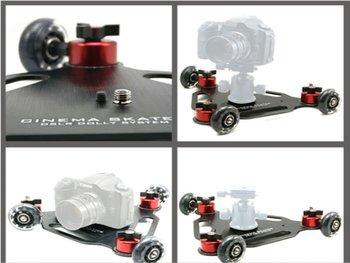 Professional camera dolly movie camera skateboard car 5d2 camera track car desktop / mini / drift car digital SLR