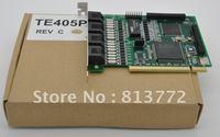 TE405P PCI 5V 4E1 card T1 card J1 card ISDN PRI card support 120 channels for elastix trixbox voip ippbx call center