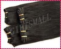 "INDIAN HAIR WEFT,20"",2pcs/lot,200g,100% REAL REMY VIRGIN HUMAN HAIR EXTENSIONS,NATURAL STRAIGHT,#1B,NATURAL BLACK,LOW PRICE"