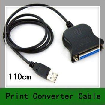 10pcs New 110cm 1.1m USB to DB25 Female Port Print Converter Cable LPT 25pin