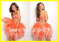 Free Shipping 2013 Brand New Sweetheart Orange Muti-color Beads Short Mini Prom Gowns Party Homecoming Dresses