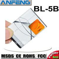 Real 1000mah BL-5B Battery For Nokia AKKU baterai ACCU free shipping