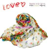 Женские шарфы, Шапки, Комплекты voile Florallady Bohemianscarf 20pcs/Lot 175 * 50 1009069