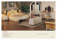 European bedroom furniture - baroqud leaf gilding bedroom set    Free shipping