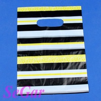 Free Shipping 300 High Quality Plastic Retail Gift Shopping Bags 22X16cm TVL-XA162211