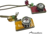 FL279/Free shipping,Retro necklace,high quality vintage camera sweater necklace,Fashion jewelry,Guarantee quality 2 years!