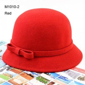 NEW 6pcs Womens Fedora Fashion Bowknot Women Red Bowler Cloches Ladies Black Derby Bucket Hats Lady Elegant Cloche Hats Fedoras