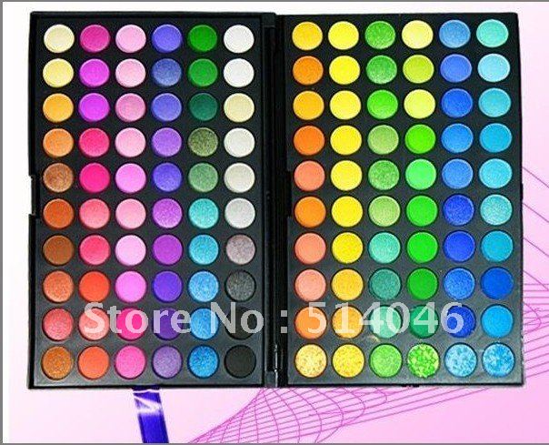 Free Gifts! Fashion Pro 120 Colors Eye Shadow Palette 2 Pigmented and Vibrant Wholesale Free Shipping(China (Mainland))
