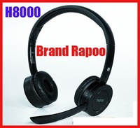 Free shipping!!H8000 Rapoo 2.4G Wireless Hi-Fi Headset Built Lithium Battery Rechargeable