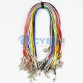 Free Shipping New 50pcs Fashion Mix Color Nylon Necklace Cord Waxed String Cord Connector For Necklace 7376