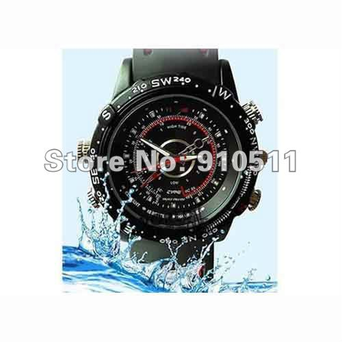 100% real 8GB Hot sell Waterproof Watch Hidden Digital Video Camera 1280x960 AVI Mini Camcorder DVR without box free shipping(China (Mainland))