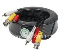 Hot Sale! 20M Audio Video 65FT RCA Power AV Cable F CCTV Camera Security Surveillance DVR, Free Shipping