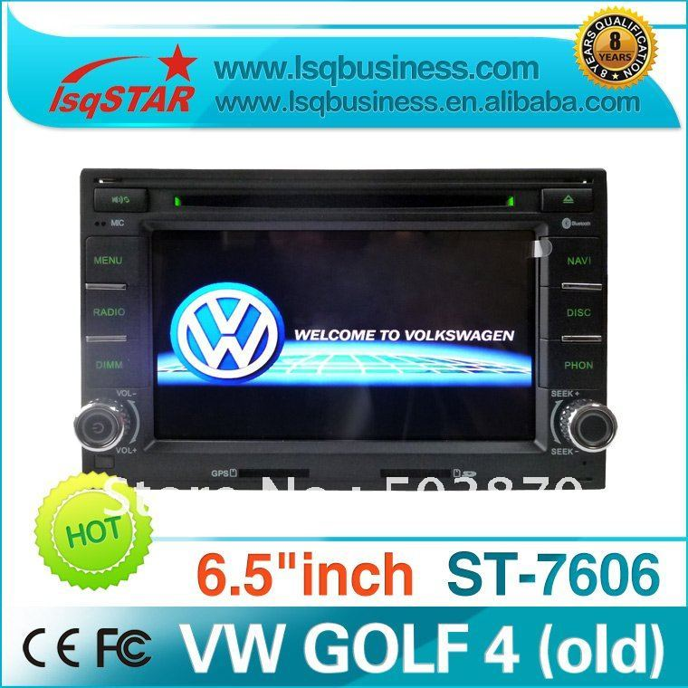 2 Din 6.5 inch VW Golf 4/Passat /skoda car dvd player with GPS/Bluetooth/IPOD/Radio/TV/3G function ! hot selling!(China (Mainland))