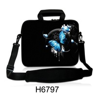 "Butterfly 15"" 15.4"" 15.6"" inch  notebook Laptop Shoulder Bag Sleeve Case Cover pouch  with Handle strap"