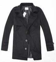 Freeshipping,Man leisure wool coat, autumn, winter, fashion, warm, dust coat,wool