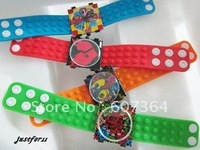 New Arrival candy stamps quartz watch colorful jelly watch 20pcs/lot