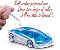 20pcs/lot Free shipping Solt Water Power Toy Car Kid Intellectual DIY Assembled Novelty Magic Child