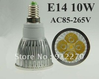 2X High power Dimmable E14 5x2W 10W AC85~265V  220V   Rotundity LED Lamp LED Light Bulb Downlight light bulb