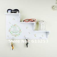 Multi-Purpose Coloured Drawing Wooden Hook / Wall Hook / Clothes,Hat And Bag Hook / Wall Decoration Shelf A0105042