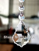 K9 A-class 38mm Crystal Pendant, Baroque style maple shape, 120pcs/lot, DIY garland material, home/wedding, free shipping CBP03